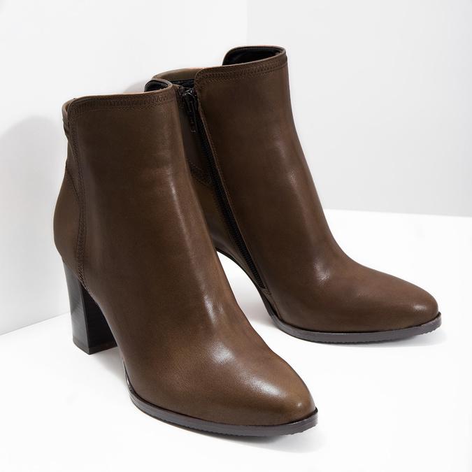 Kožená členková obuv bata, hnedá, 794-4650 - 18
