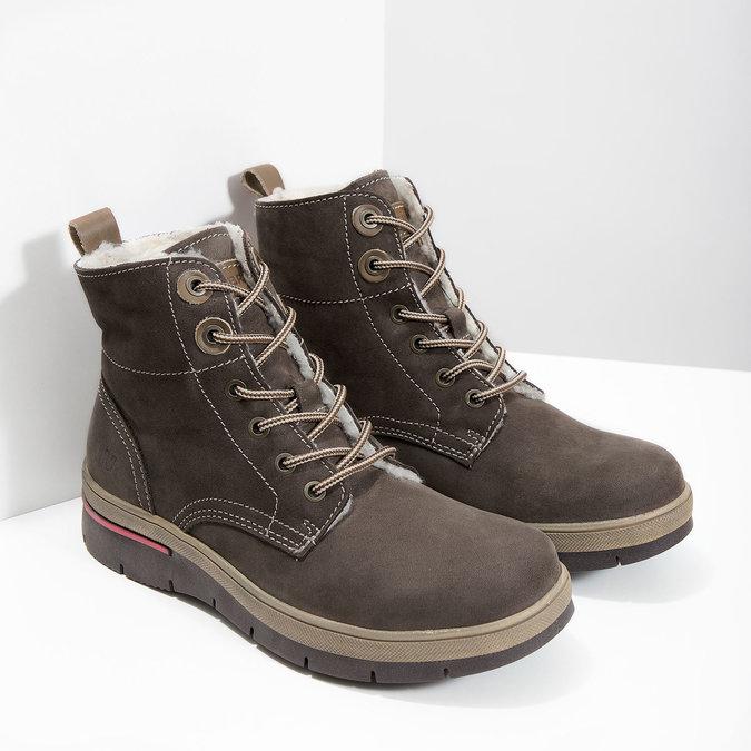 Kožená dámska zimná obuv weinbrenner, hnedá, 596-4666 - 18