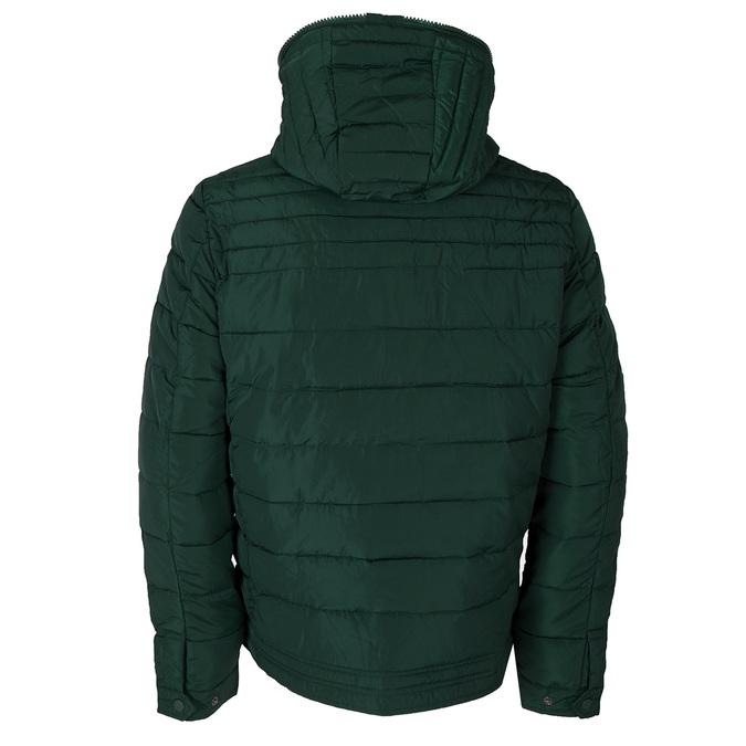 Zelená pánska bunda s kapucou bata, zelená, 979-7130 - 26