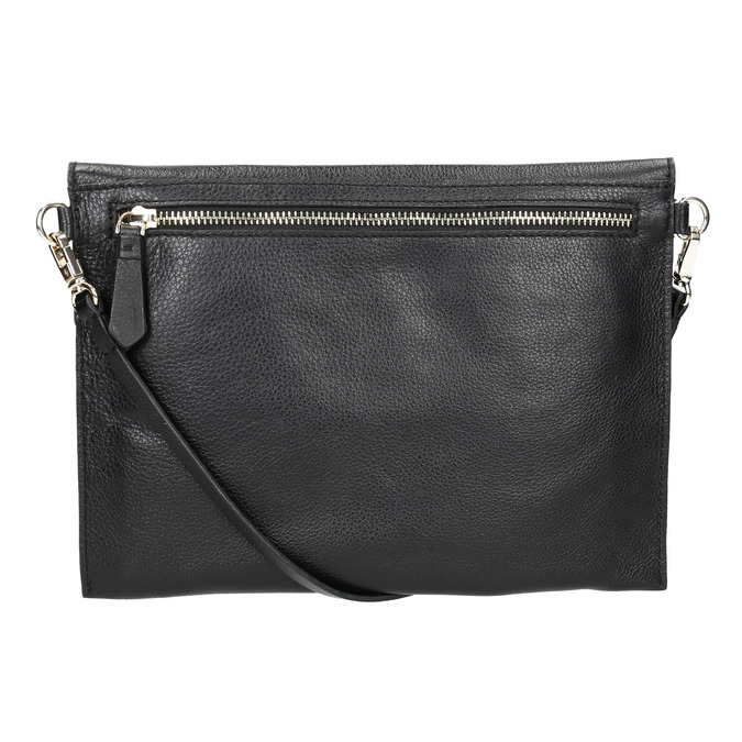 Dámska kožená listová kabelka bata, čierna, 964-6193 - 26