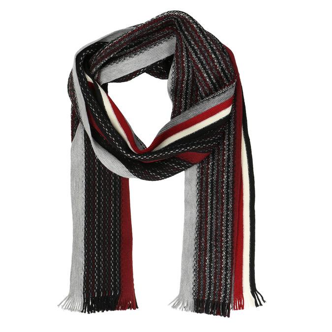 Pánsky pruhovaný šál bata, čierna, 909-6616 - 13