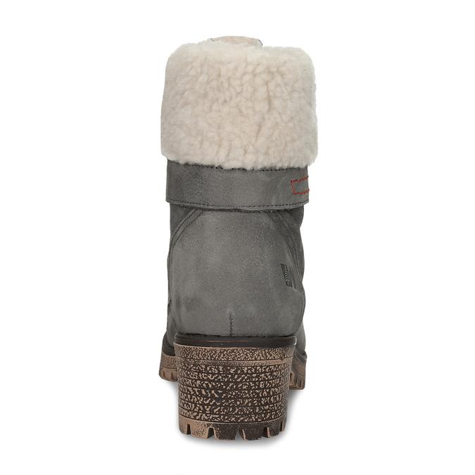 Šedá dámska kožená zimná obuv so zateplením weinbrenner, šedá, 696-2168 - 15