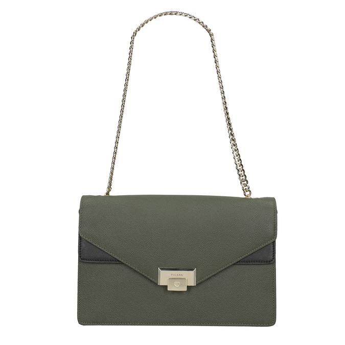 Dámska kožená listová kabelka picard, zelená, 964-7097 - 26