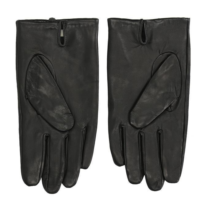 Kožené čierne rukavice bata, čierna, 904-6130 - 16