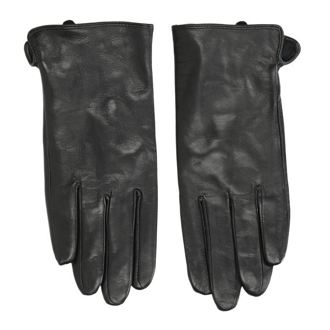 Dámske kožené rukavice bata, čierna, 904-6129 - 26