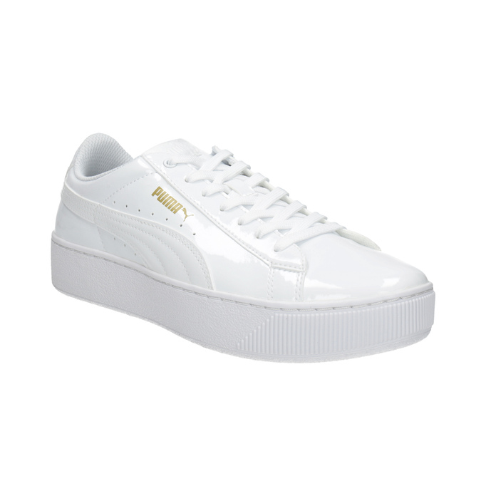 Biele dámske tenisky na flatforme puma, biela, 501-1159 - 13