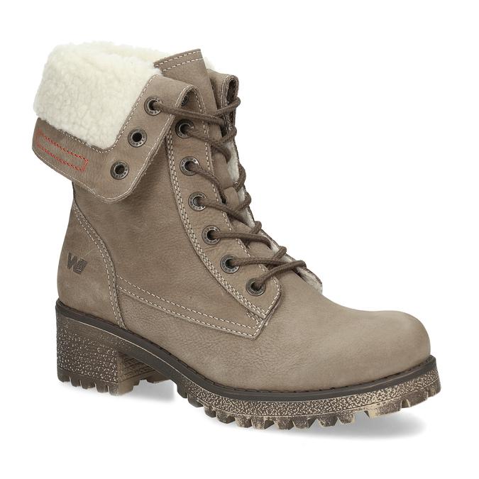 Kožená dámska zimná obuv weinbrenner, hnedá, 696-4336 - 13