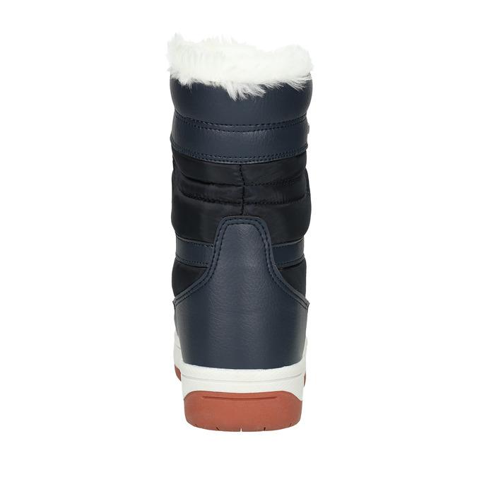Dámske snehule s kožúškom bata, modrá, 599-9617 - 17