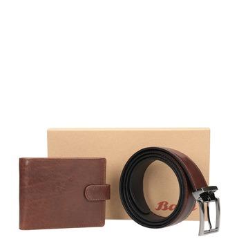 Darčekové balenie kožený opasok a peňaženka bata, hnedá, 954-4200 - 13
