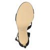 Dámske spoločenské sandále s kamienkami bata, čierna, 729-6611 - 17