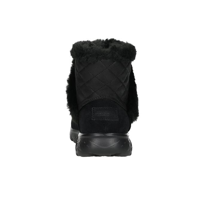 Dámska obuv z brúsenej kože skechers, čierna, 503-6326 - 15