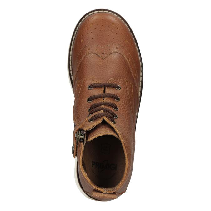 Detská kožená členková obuv primigi, hnedá, 314-3004 - 17