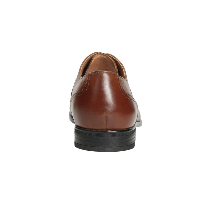Pánske kožené poltopánky hnedé bata, hnedá, 826-3758 - 15