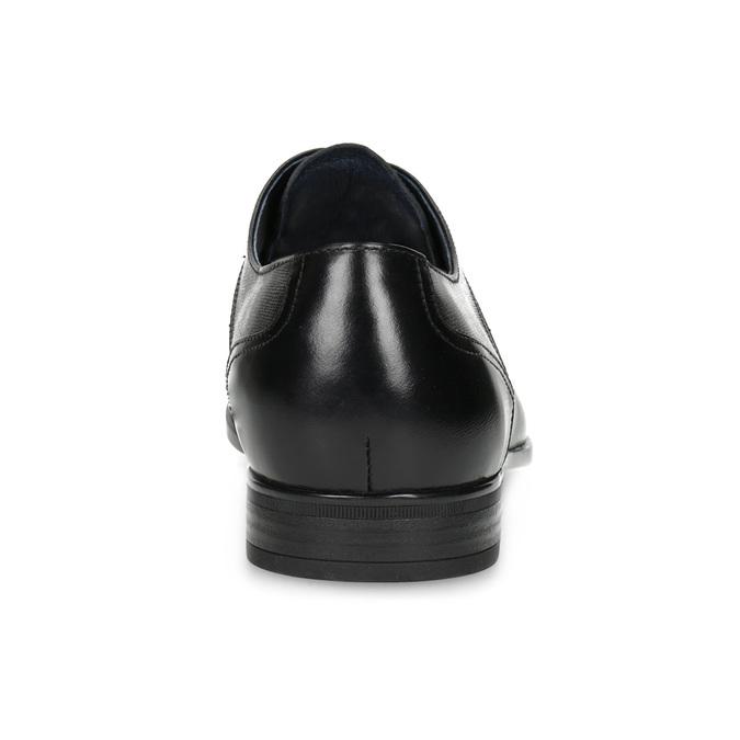 Kožené čierne pánske poltopánky bata, čierna, 824-6758 - 15