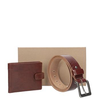 Darčekové balenie kožený opasok a peňaženka bata, hnedá, 954-3201 - 13