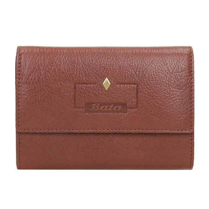 Dámska kožená peňaženka bata, hnedá, 944-4189 - 26