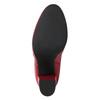 Červené členkové čižmy z kože bata, červená, 794-5652 - 19