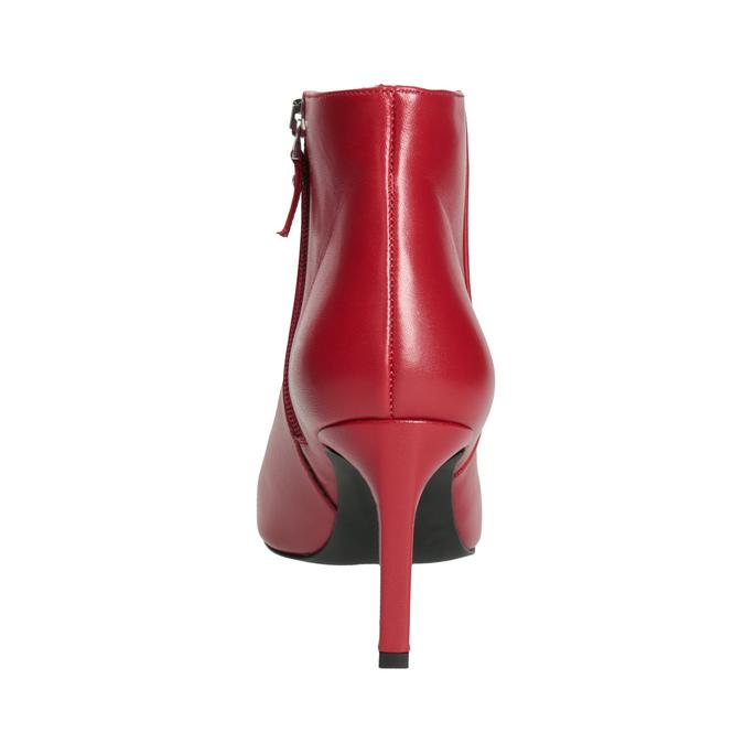 Kožená členková obuv červená bata, červená, 794-5651 - 15