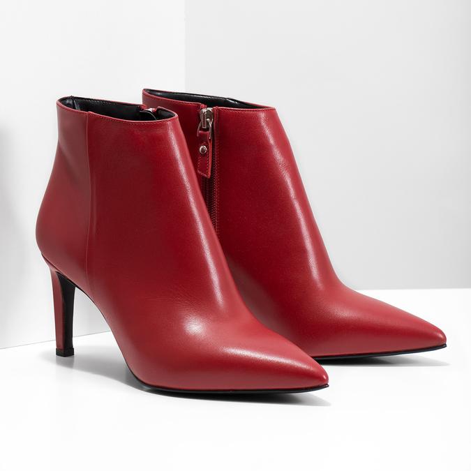 Kožené členkové čižmy červené bata, červená, 794-5651 - 26