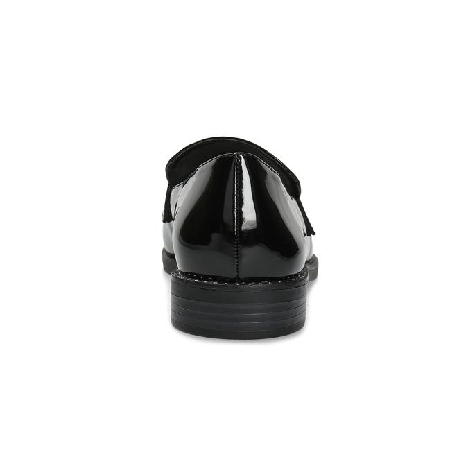 Lakované dámske mokasíny bata, čierna, 511-6607 - 15