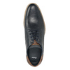 Pánske kožené Derby poltopánky bata, modrá, 826-9924 - 15