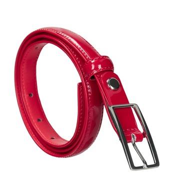 Červený lakovaný opasok bata, červená, 951-5603 - 13