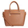 Hnedá kabelka s odnímateľným popruhom bata, hnedá, 961-3845 - 16