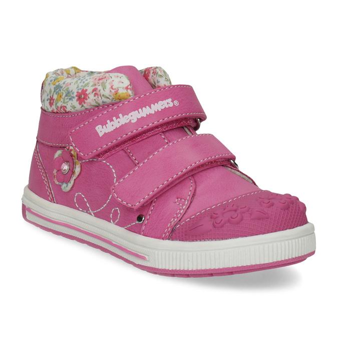 Ružová členková obuv na suchý zips bubblegummers, 121-5618 - 13