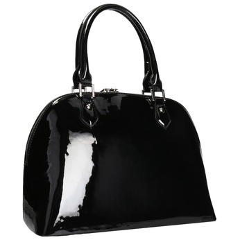 Čierna lakovaná kabelka bata, čierna, 961-6849 - 13