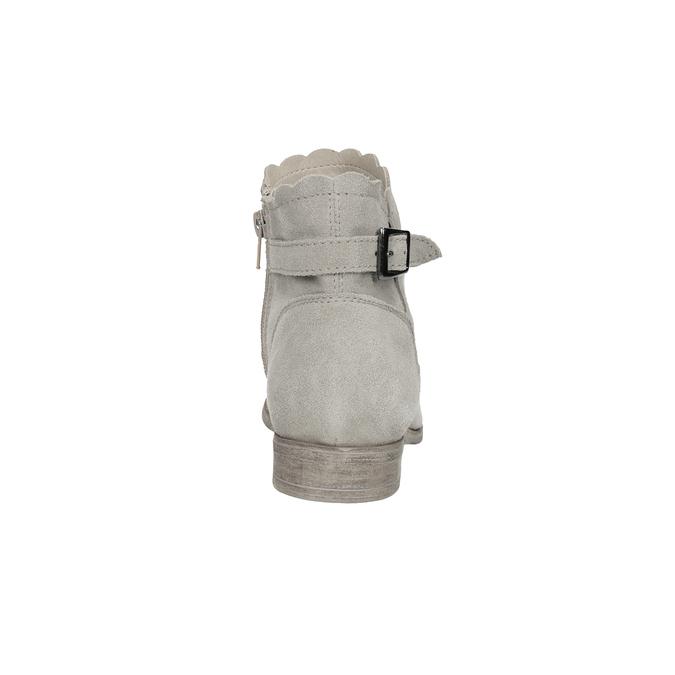 Členkové čižmy s výšivkou bata, šedá, 596-2686 - 15