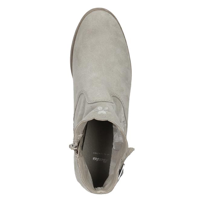 Členkové čižmy s výšivkou bata, šedá, 596-2686 - 17
