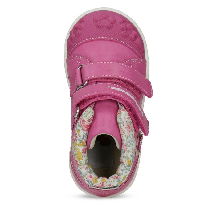 Ružová členková obuv na suchý zips bubblegummers, 121-5618 - 17