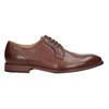 Hnedé kožené poltopánky pánske bata, hnedá, 826-3997 - 26