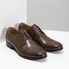 Hnedé kožené Derby poltopánky bata, hnedá, 826-3863 - 26