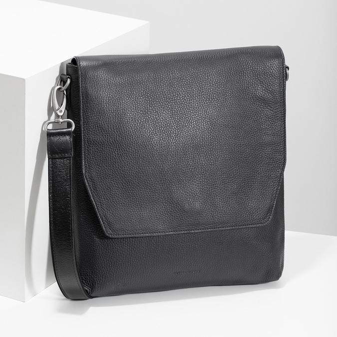 Kožená Crossbody taška royal-republiq, čierna, 964-6093 - 17