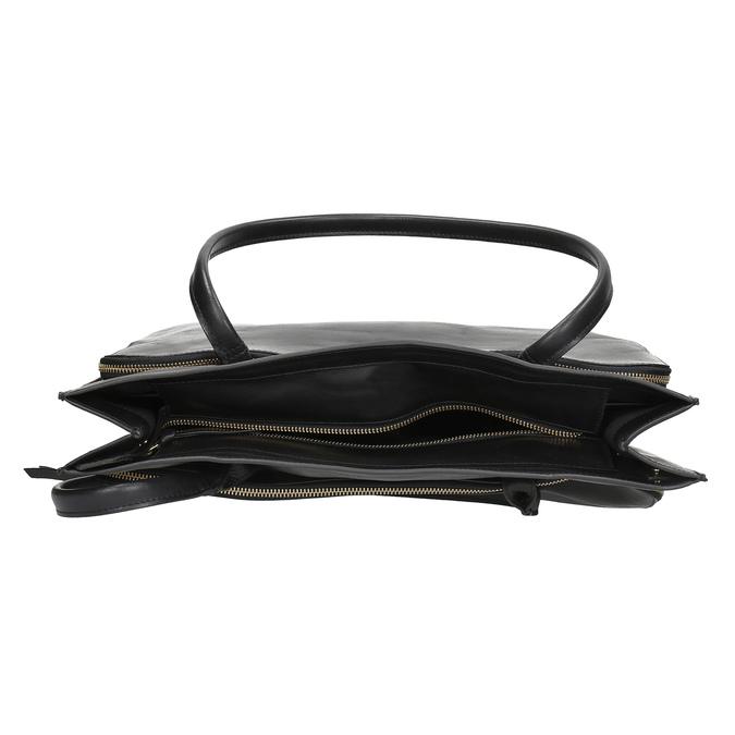 Kožená dámska kabelka royal-republiq, čierna, 964-6066 - 15
