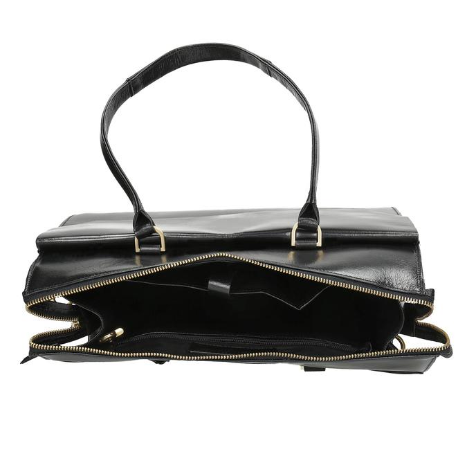 Kožená kabelka so zlatými detailami royal-republiq, čierna, 964-6069 - 15
