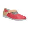 Kožené baleríny s remienkom bata, červená, 526-5651 - 13