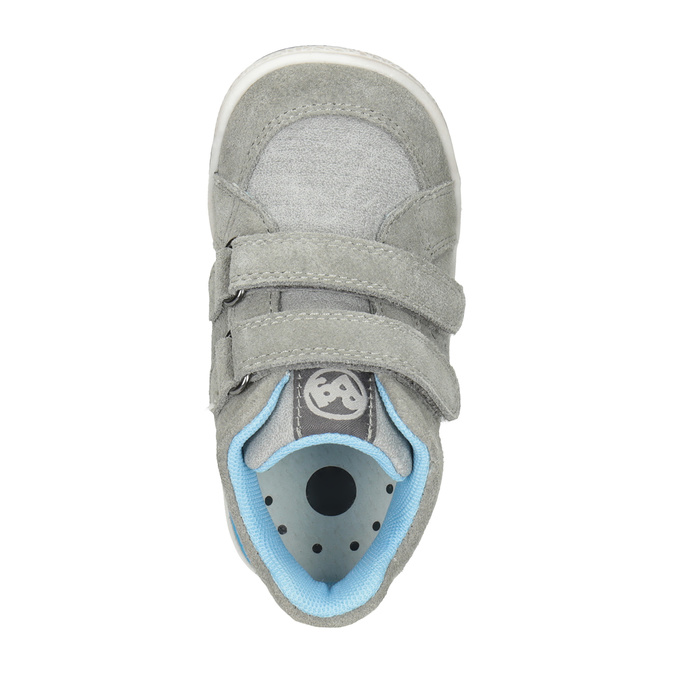 Kožená detská členková obuv bubblegummers, šedá, 113-2603 - 15