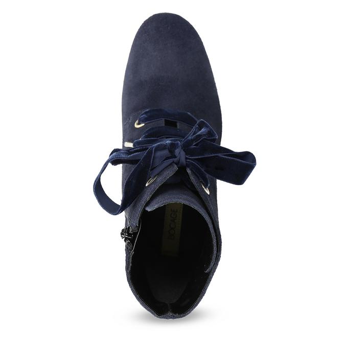 Členková kožená obuv s mašľou bata, 793-9613 - 17