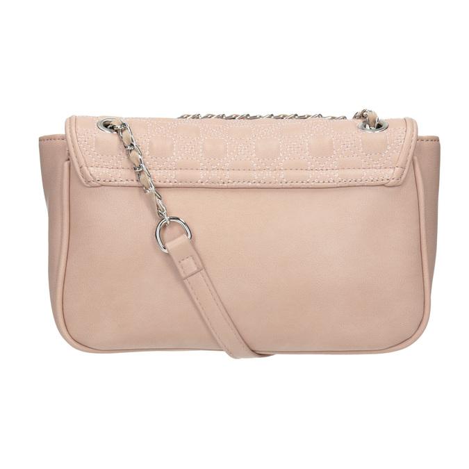 Crossbody kabelka s prešitím na klope bata, ružová, 961-9826 - 16
