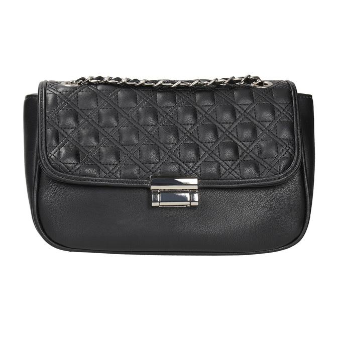 Crossbody kabelka s prešitím bata, čierna, 961-6826 - 26