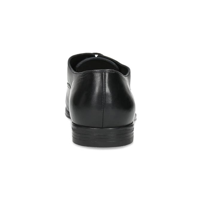Čierne kožené Oxford poltopánky bata, čierna, 824-6944 - 15