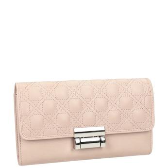 Ružová dámska peňaženka s prešitím bata, modrá, 941-9169 - 13