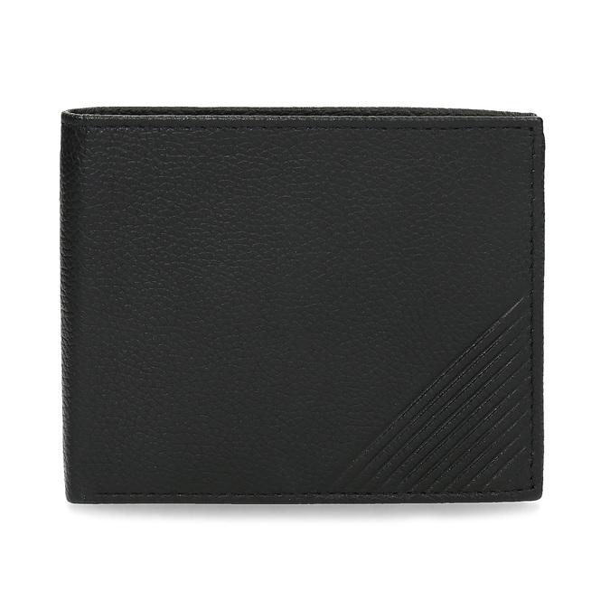 Kožená pánska peňaženka s vrúbkami bata, čierna, 944-6206 - 26