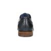 Modré kožené poltopánky so štruktúrou bata, 826-9825 - 15