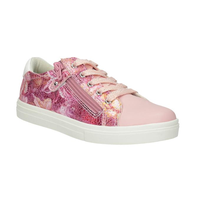 Dievčenské ružové tenisky so zipsom mini-b, 321-5219 - 13