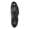 Čierne kožené Monk Shoes bata, čierna, 824-6730 - 17