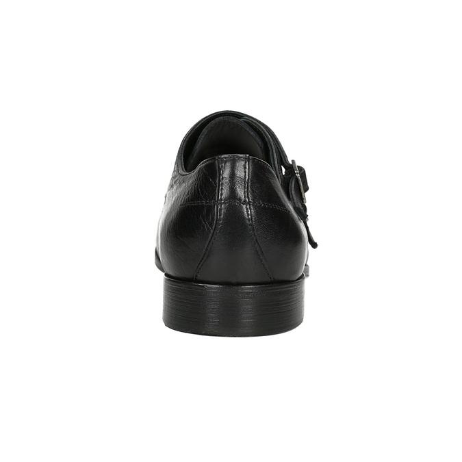 Čierne kožené Monk Shoes bata, čierna, 824-6730 - 15