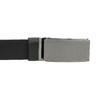 Kožený pánsky opasok s hladkou sponou bata, čierna, 954-6207 - 26